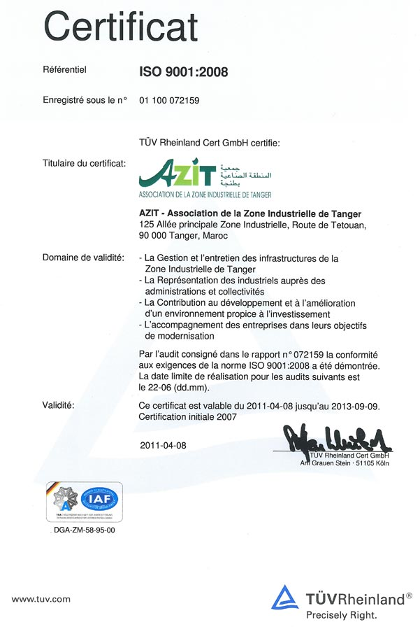 certificat-azit-tanger